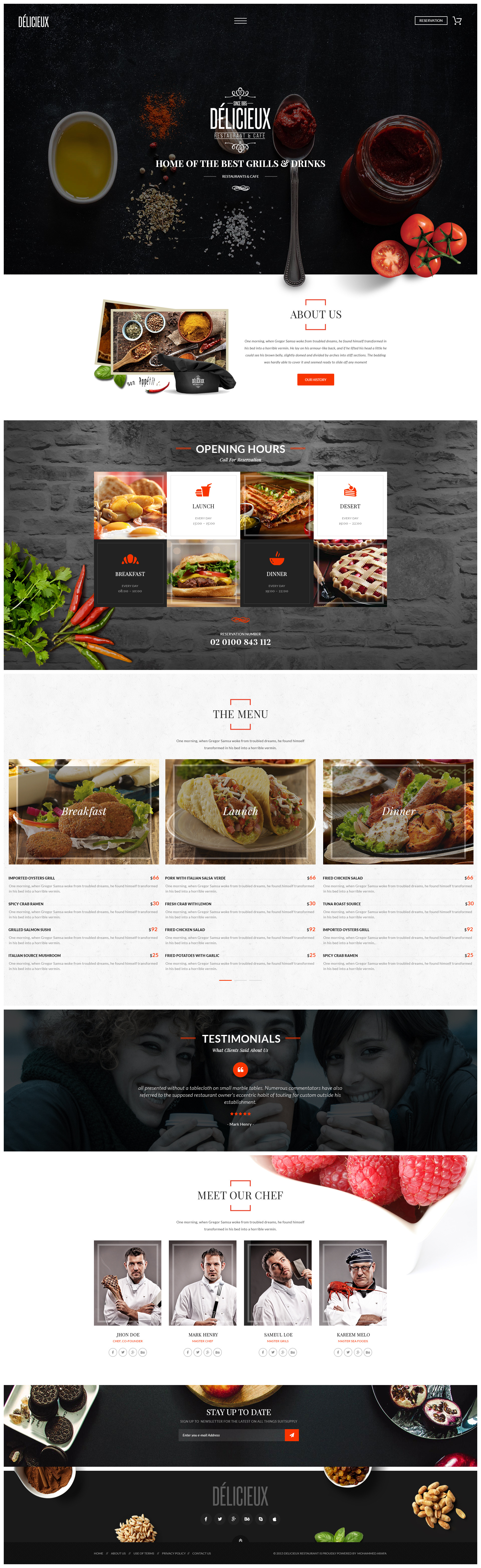 delicieux - exquisite restaurant psd templatecreative-wp