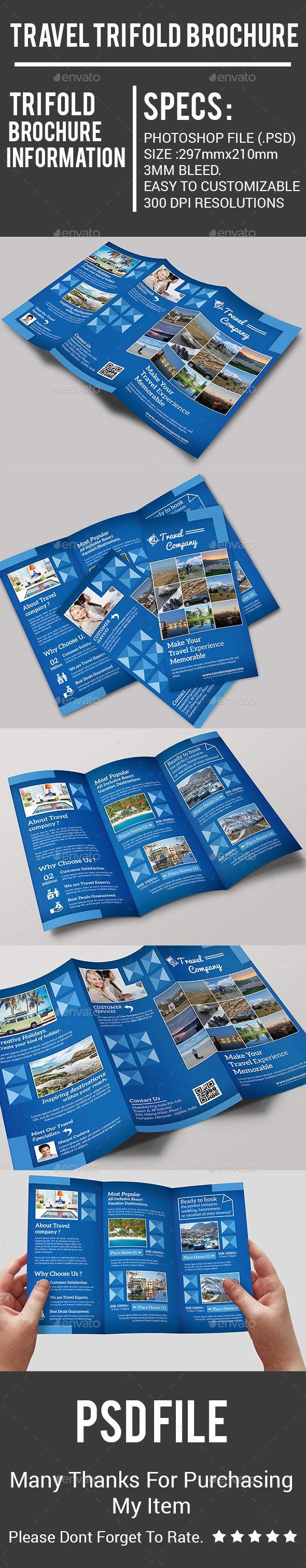 Travel Tri Fold  Brochure - Corporate Brochures