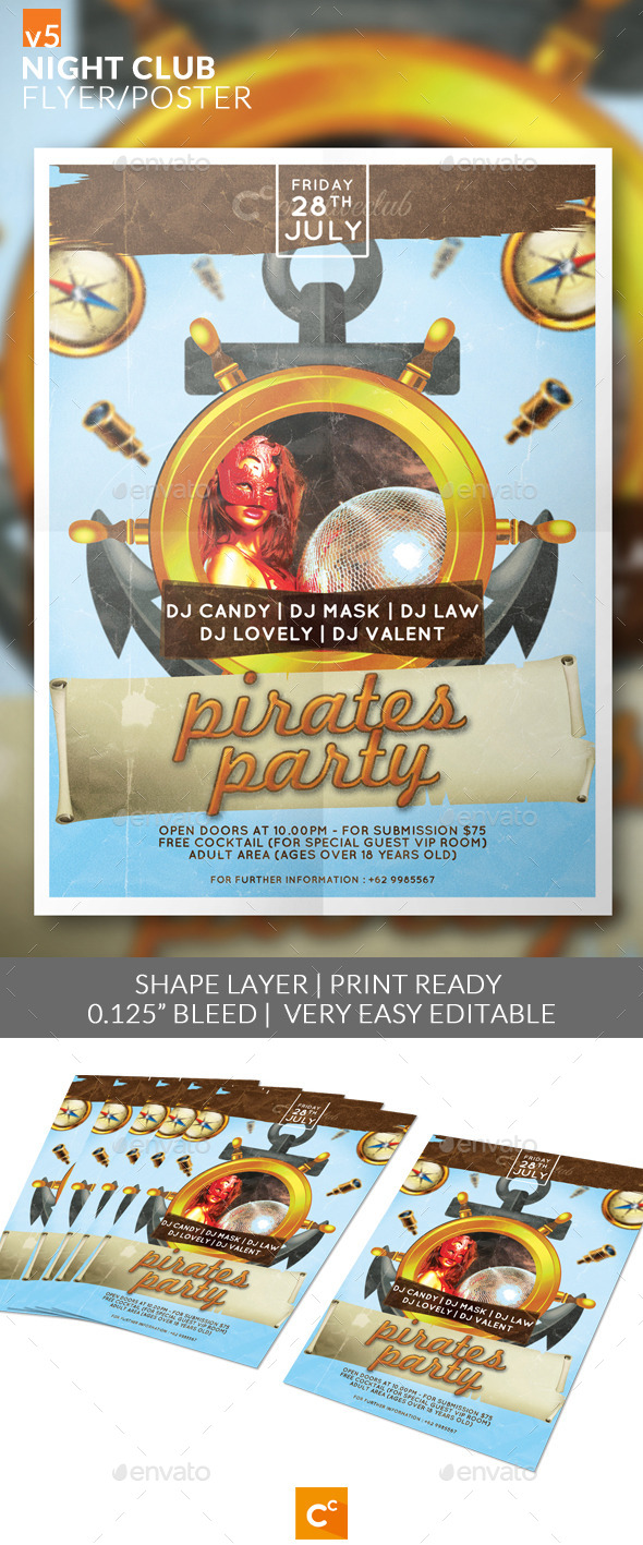 Night Club Flyer/Poster - Clubs & Parties Events