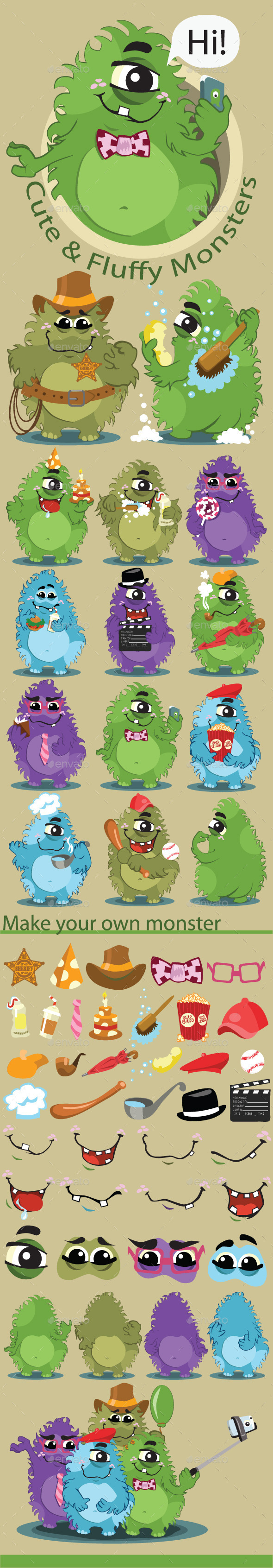 A Pack of Monsters - Monsters Characters