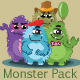 A Pack of Monsters - GraphicRiver Item for Sale