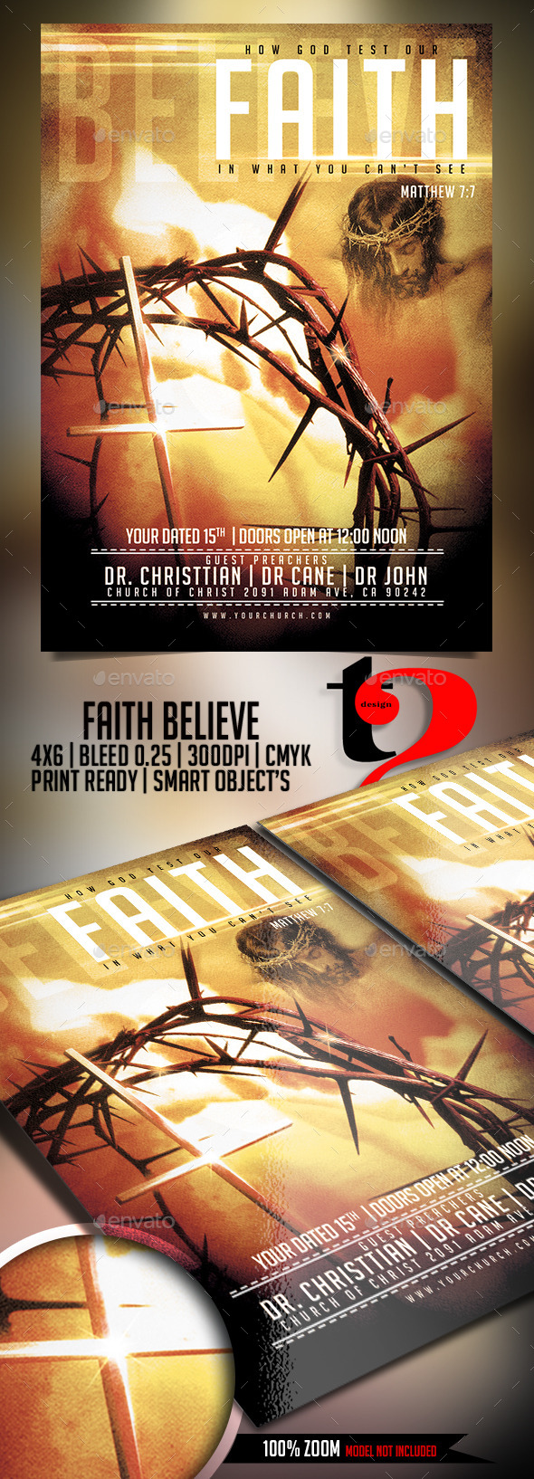 Faith Believe - Church Flyer Template - Church Flyers