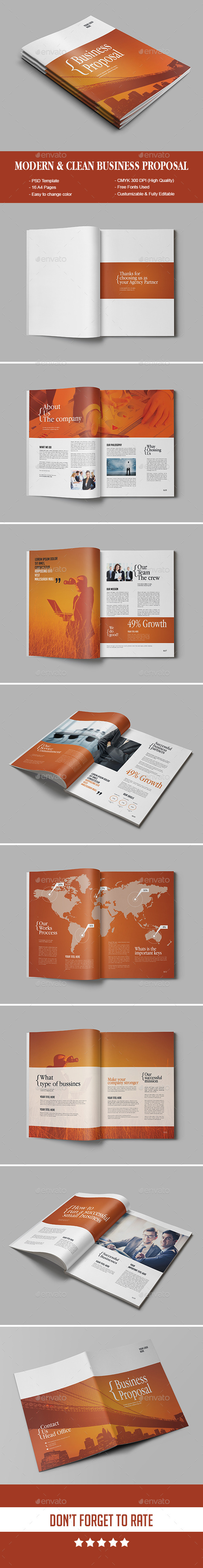 Modern & Clean Business Proposal - Proposals & Invoices Stationery