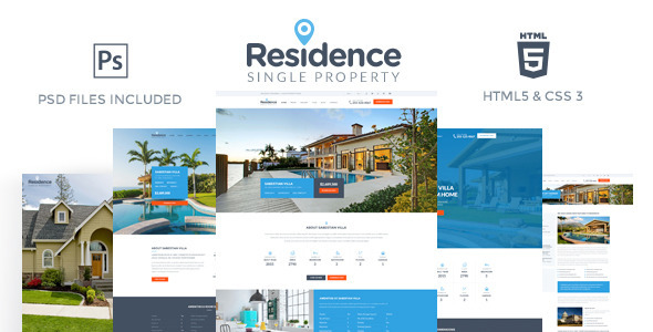 Residence – Single Property HTML Template