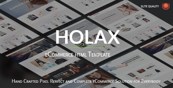 Holax – Multipurpose HTML eCommerce Template