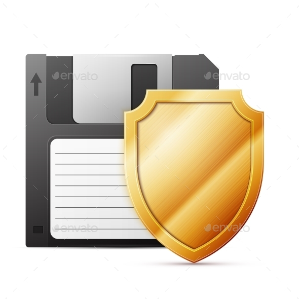 Diskette with Shield