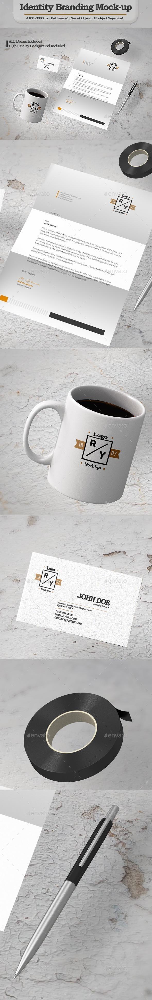 Identity Branding Mock-Up - Stationery Print