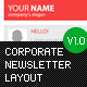 Corporate Newsletter Layout - GraphicRiver Item for Sale
