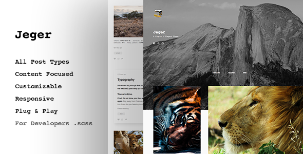 Jeger, Premium Tumblr Theme – Grid based
