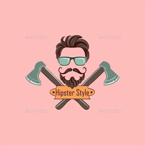 Hipster Style Logo - Decorative Symbols Decorative