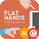 Flat Hands Holding Devices - GraphicRiver Item for Sale