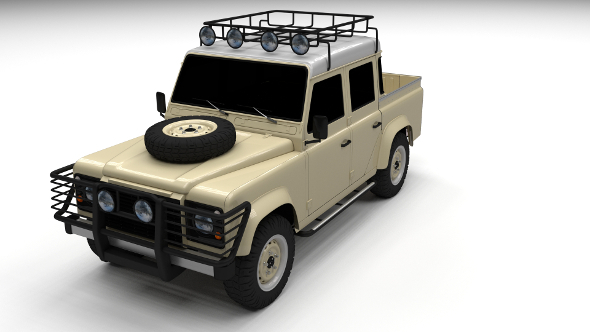 Land Rover Defender 110 Double Cab Pick Up - 3DOcean Item for Sale