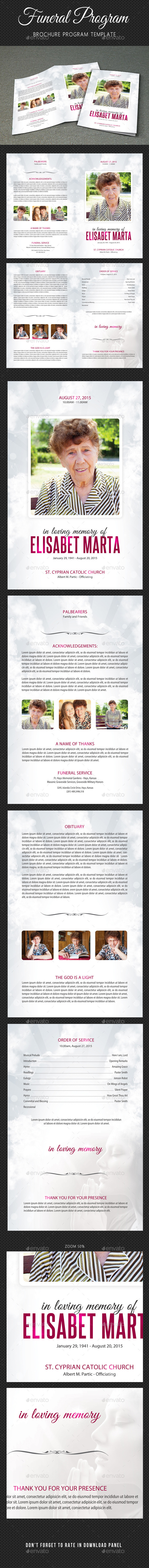 Funeral Program Brochure Template V02 - Informational Brochures