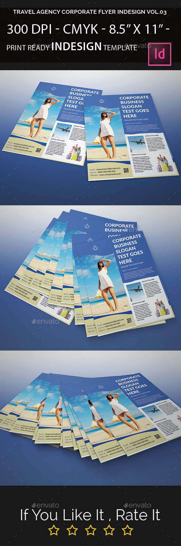 Travel Agency Corporate Flyer Indesign Vol.03 - Corporate Flyers