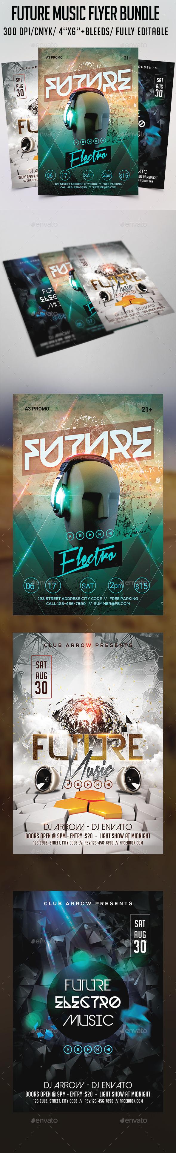 Future Music Flyer Bundle - Clubs & Parties Events