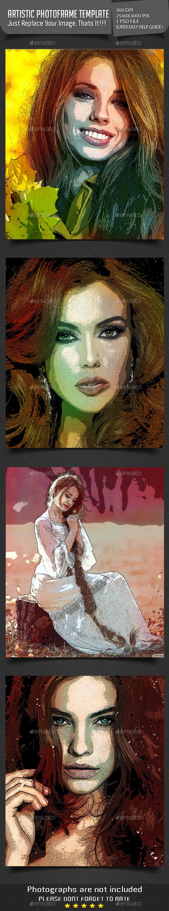 Artistic Photoframe Templates - Artistic Photo Templates