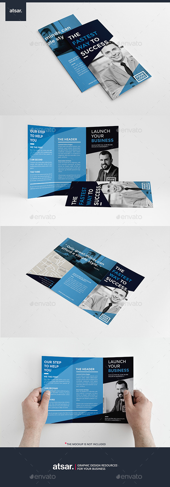 Corporate Blue Trifold