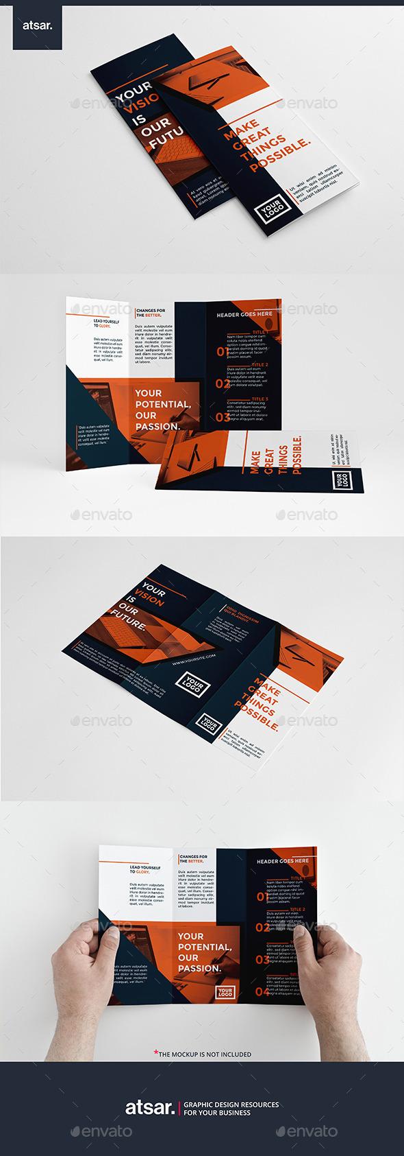 Modern Orange Trifold - Corporate Brochures