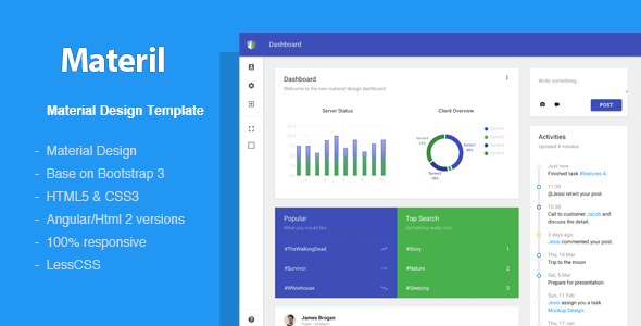 Materil – Angular Material Design Admin Template