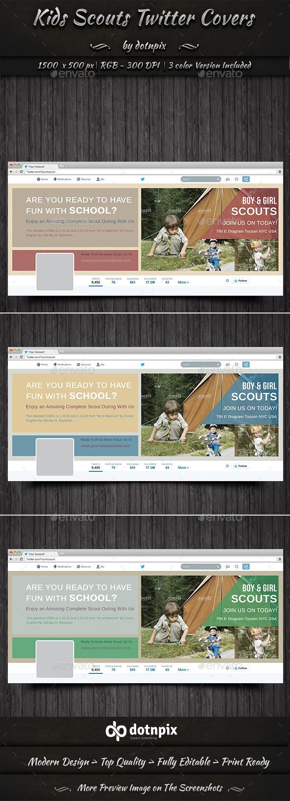 Kids Scouts Twitter Covers - Twitter Social Media