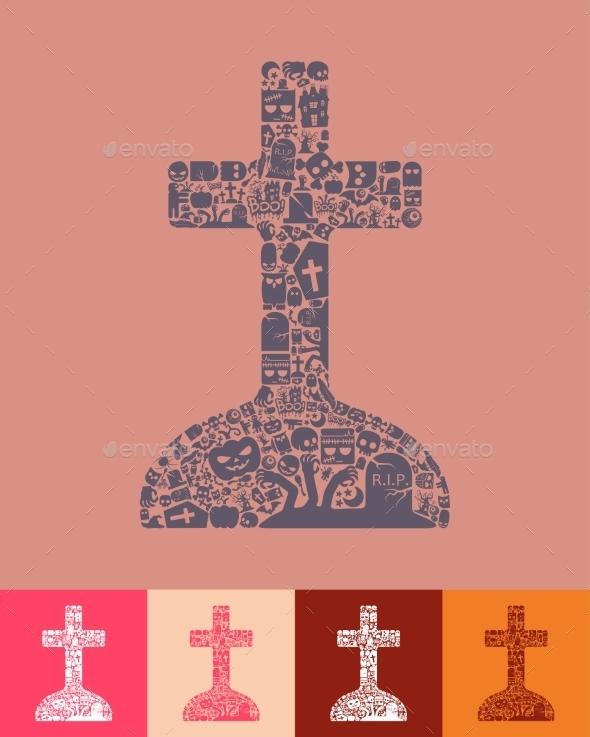 Tombstone Icon - Halloween Seasons/Holidays