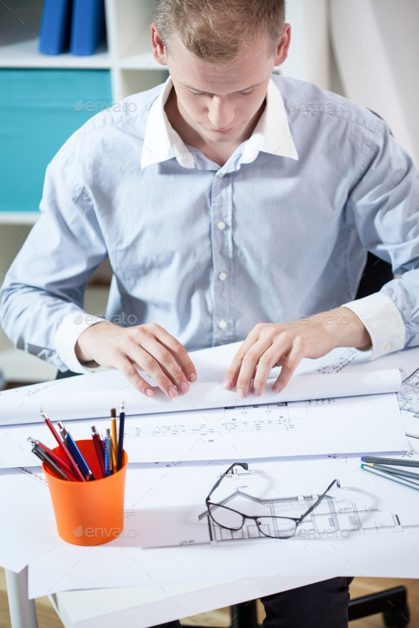 Architect ends the project - Stock Photo - Images