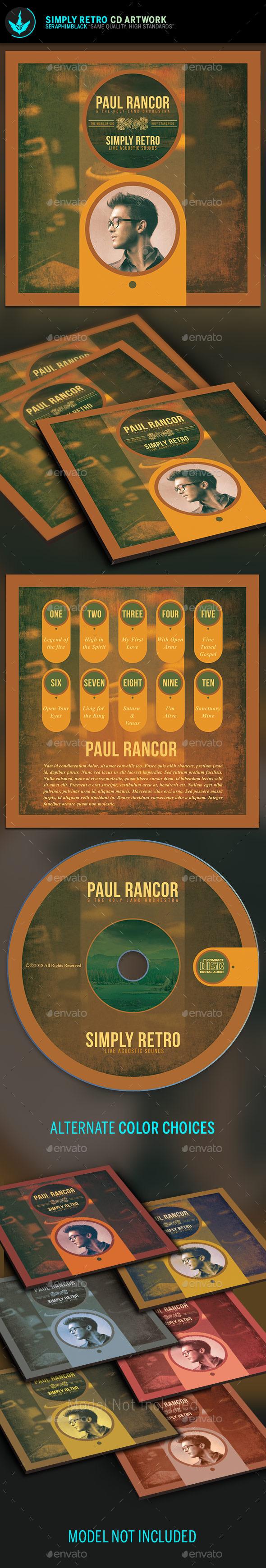 Simply Retro CD Artwork Template - CD & DVD Artwork Print Templates