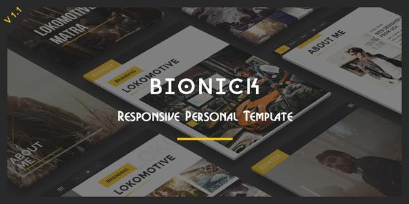 Bionick – Responsive Personal Portfolio Template