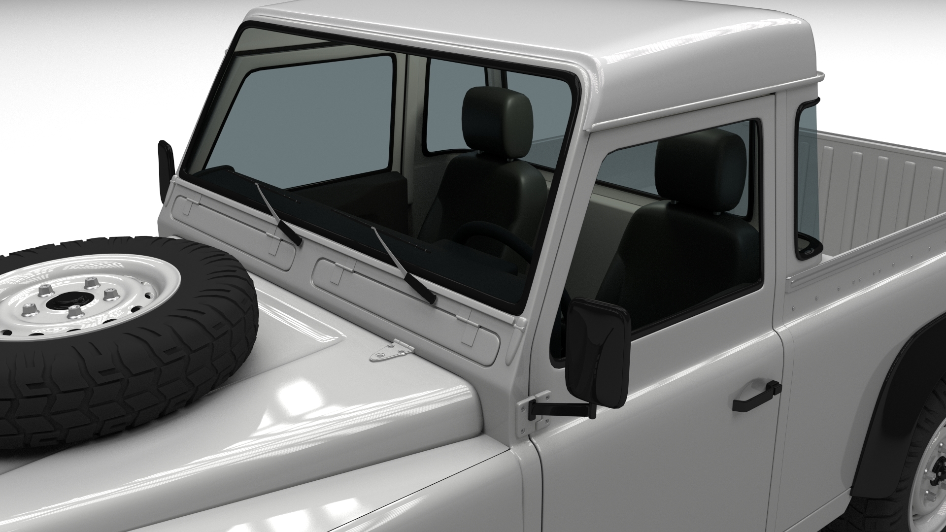 Full Land Rover Defender 90 Pick Up By Dragosburian 3docean