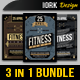 Vintage Fitness Flyers Bundle - GraphicRiver Item for Sale