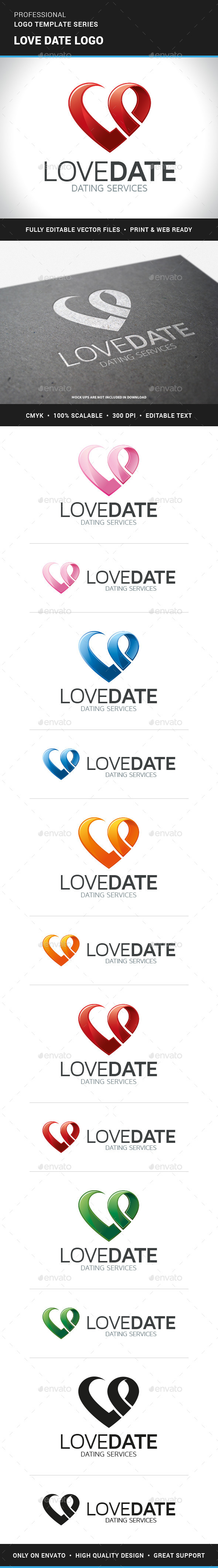 Love Date Logo Template - Symbols Logo Templates