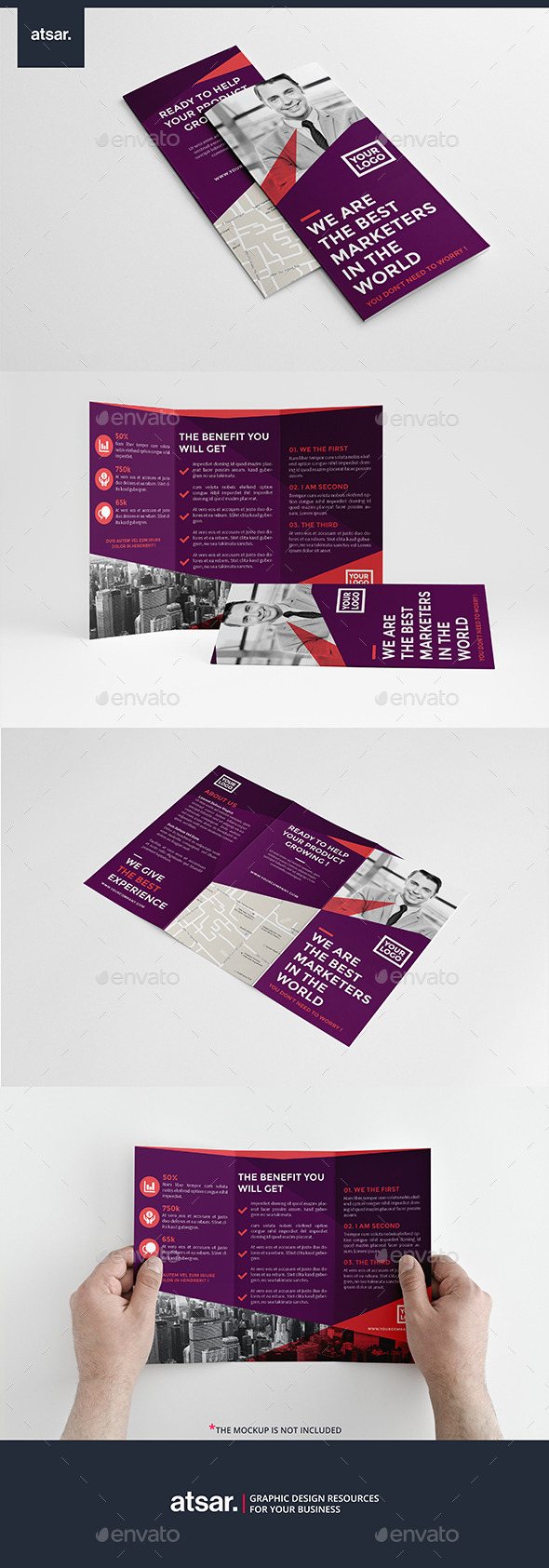 Purple Business Trifold - Corporate Brochures