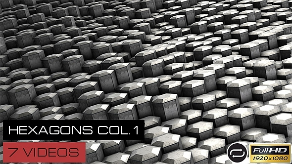 Dirty Hexagons Collection #1 7 Pack