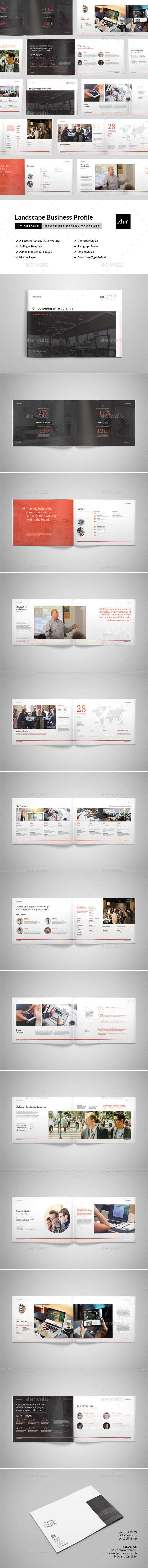 Corporate Brochure (Landscape Format) - Corporate Brochures