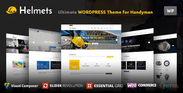 Helmets – Responsive Business theme for companies