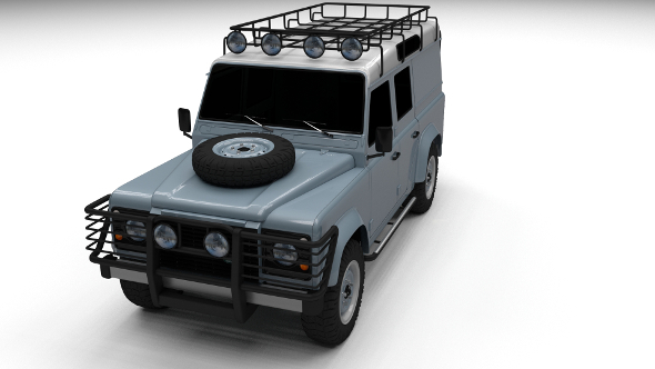 Land Rover Defender 110 Utility Station Wagon - 3DOcean Item for Sale