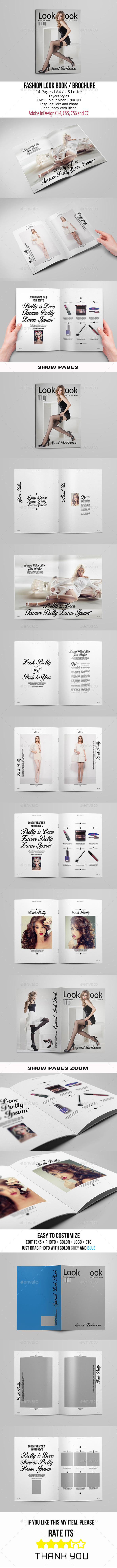 Fashion Look Book A4/US Letter - Brochures Print Templates