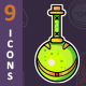 Potion Bottles - Game Icons - GraphicRiver Item for Sale