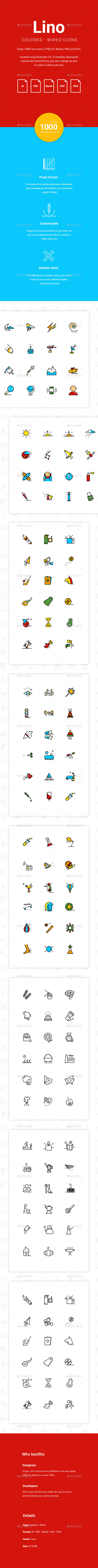 Lino Icons - 1000 Vector Icons - Icons