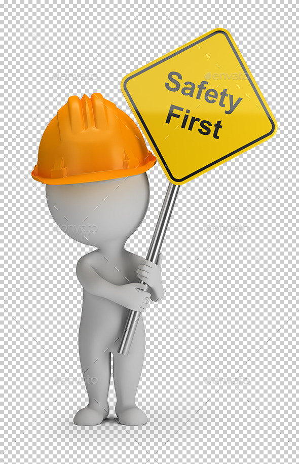 3D Small People - Safety First - Characters 3D Renders