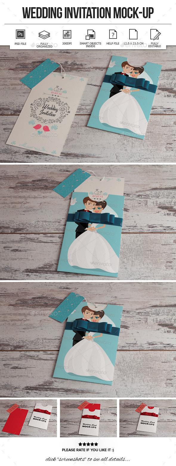 Wedding Invitation Mockup - Miscellaneous Print