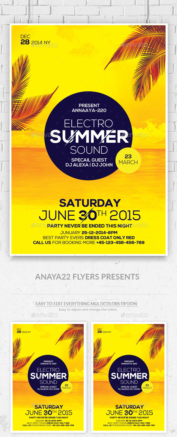 Summer House Flyer Template - Clubs & Parties Events