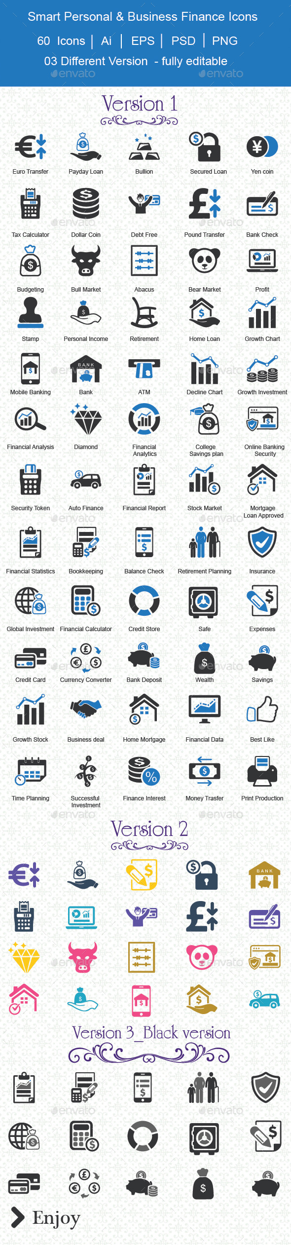 Smart Personal & Business Finance Icons