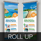 Travel Roll Up Banner Signage InDesign Template  - GraphicRiver Item for Sale