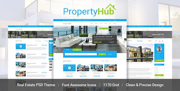 Property Hub – Real Estate PSD Theme