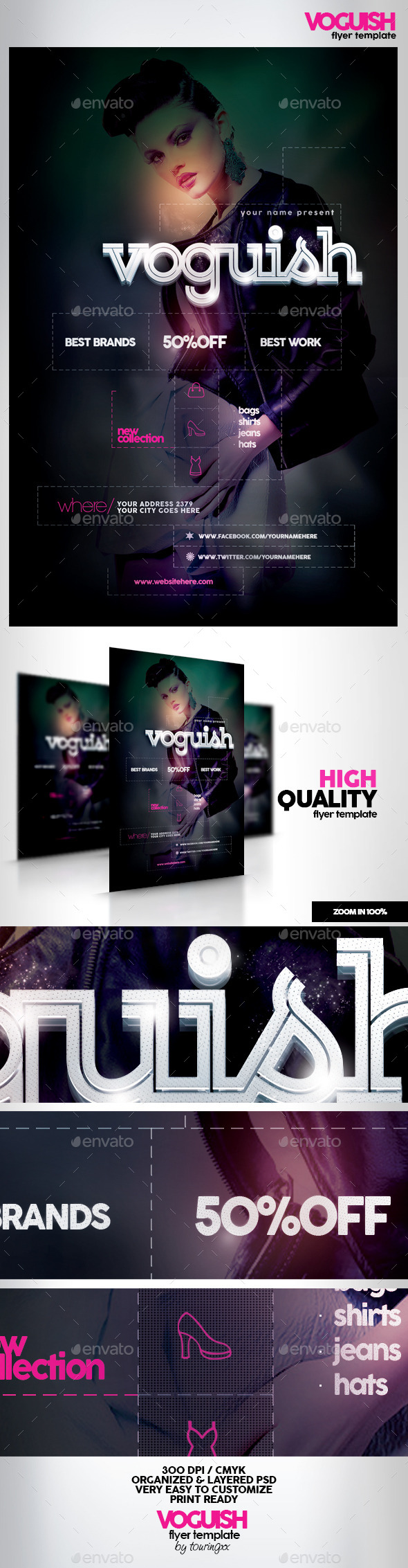Voguish Flyer Template - Flyers Print Templates