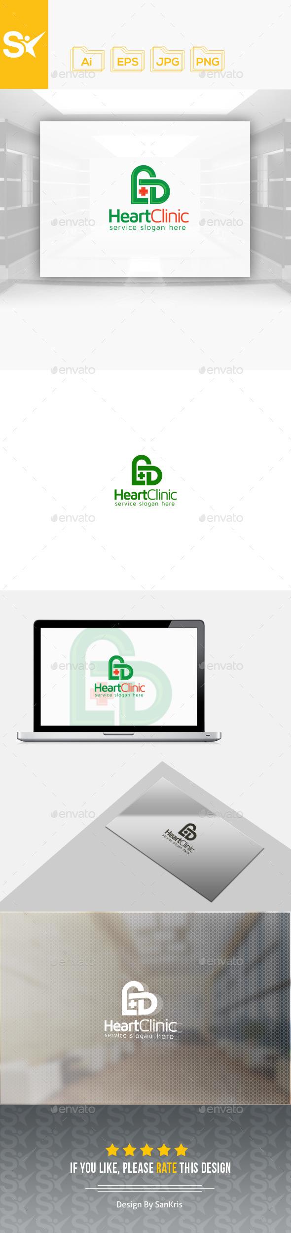 Heart Clinic Logo - Symbols Logo Templates