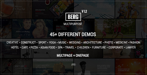 Berg – Multipurpose One Page & Multi Page Template