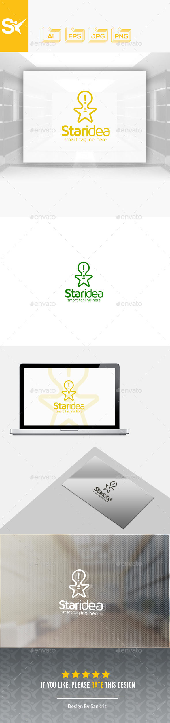 Star Idea Logo - Symbols Logo Templates