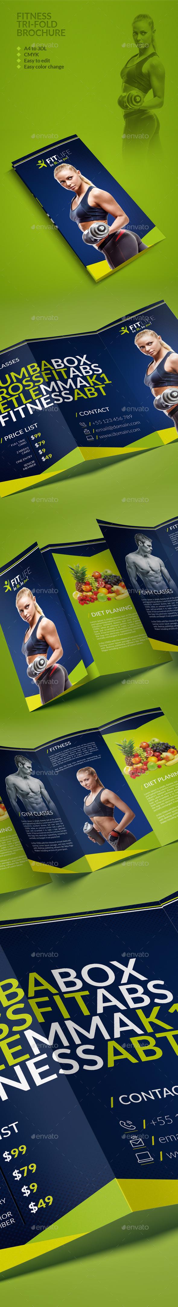 Fitness Trifold Brochure - Brochures Print Templates